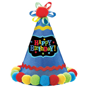Birthday Brights Pom Pom Party Hat