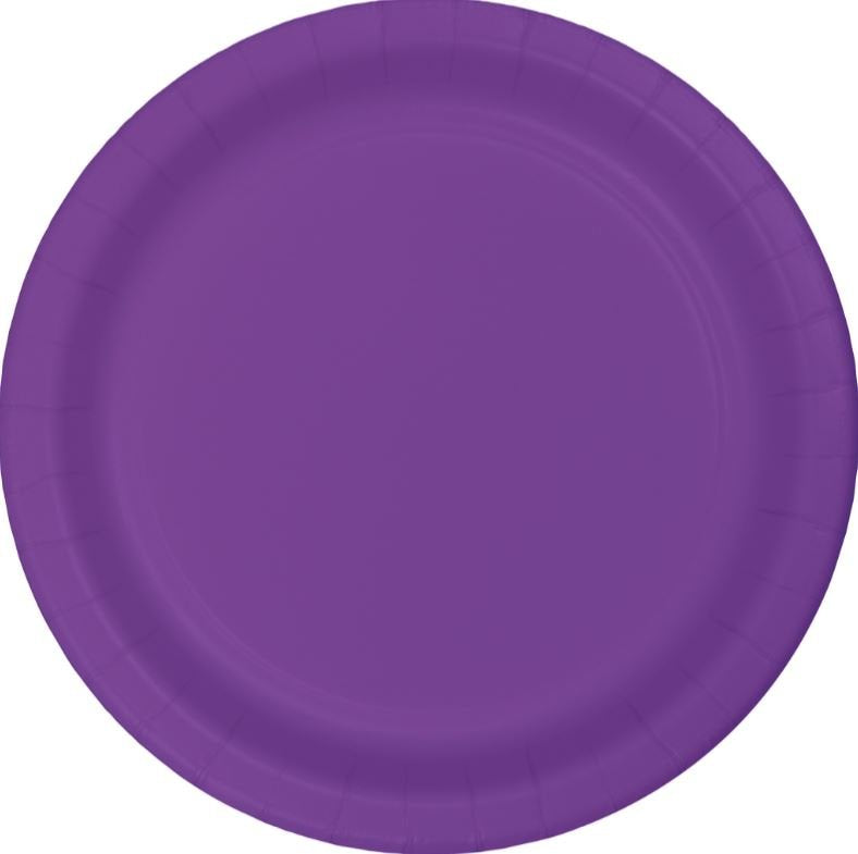 Purple/Amethyst Paper Snack Plates