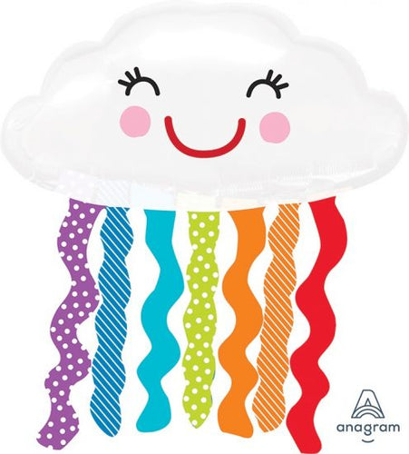 Rainbow Cloud Foil Balloon - Anagram