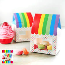 Rainbow Party Treat Boxes