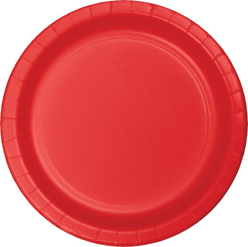 Red Paper Snack Plates