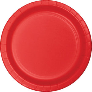 Red Paper Dinner Plates
