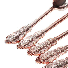 Rose Gold Plastic Cutlery Set