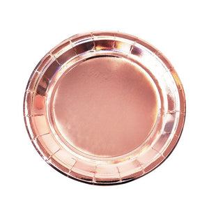 Rose Gold Paper Plates - small