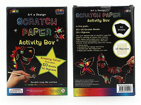 Scratch Paper Activity Box