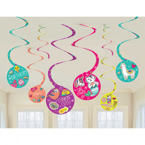Selfie Celebration Spiral Decorations