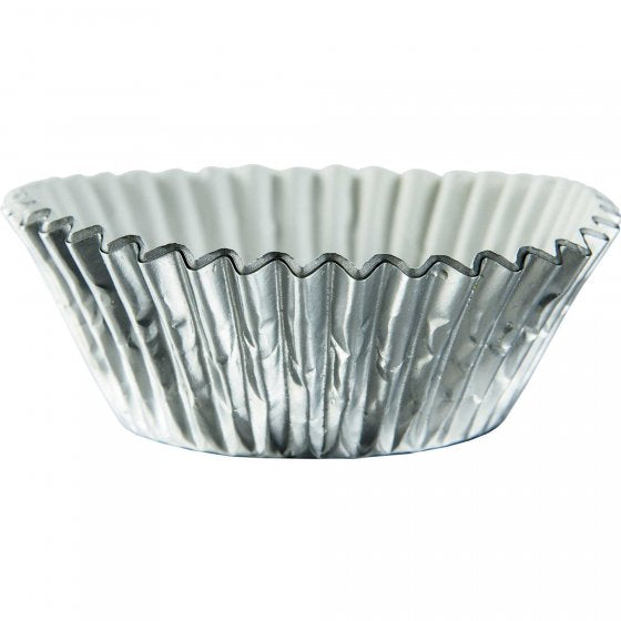 Silver Cupcake Cases - Baking Cups
