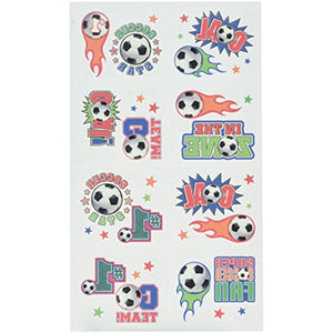 Soccer Novelty Temporary Tattoos