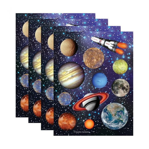 Space Blast Party Stickers