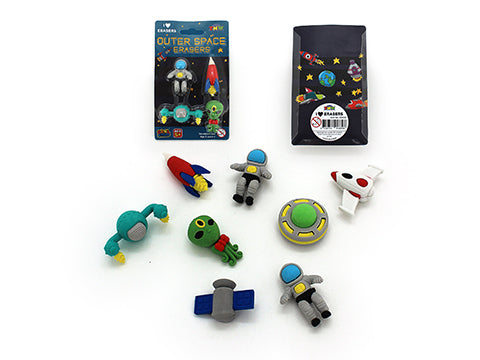 Outer Space Erasers Pack 4