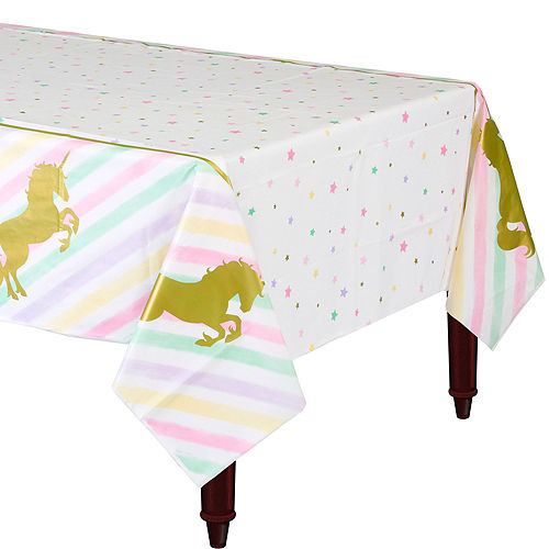 Sparkling Unicorn Plastic Tablecover