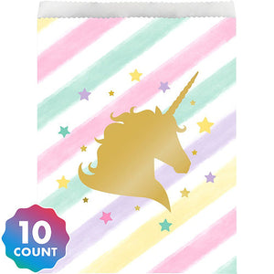 Sparkling Unicorn Paper Treat Bags