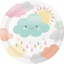Sunshine Baby Shower Snack Plates