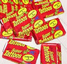 Super Tattoos Bubble Gum