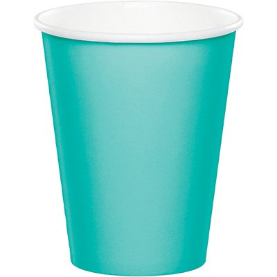 Teal Paper Cups