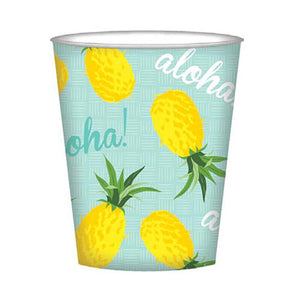 Tropical Aloha Pineapple Party Cups
