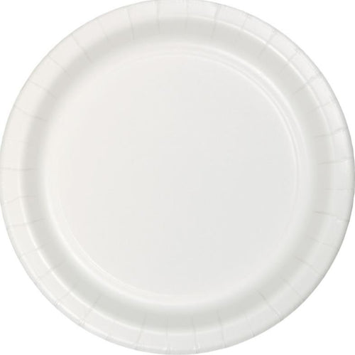 White Paper Snack Plates
