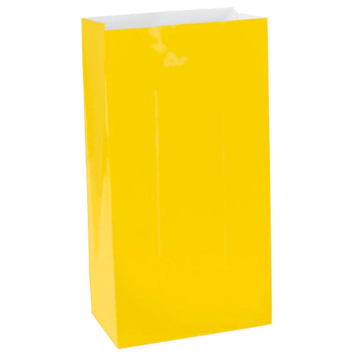 Yellow Paper Lolly Bags