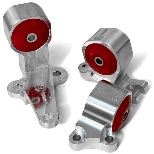 Innovative Mounts -  B-Series Billet Conversion Engine Mount Kit (88-91 Civic & CRX) 60A STREET (RED) / SIlver INO-B19150-60A