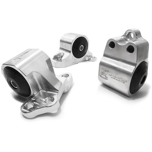 Innovative Mounts - B/D-Series Billet Replacement Engine Mount Kit (92-95 CIVIC / 94-01 Integra) 60A STREET (RED) / Silver INO-B10150-60A