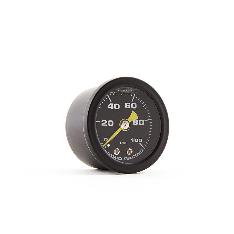 Hybrid Racing Liquid Filled Fuel Pressure Gauge (Universal) HYB-FPG-01-02
