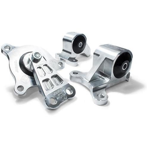 Innovative Mounts - K-Series Billet Engine Mount Kit (02-06 RSX & 01-05 Civic Si) 85A RACE (GREY) / Silver INO-B90650-85A