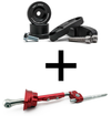 Hybrid Racing - Short Shifter & Linkage Bushing Combo (B-Series) Dust Red HYB-BUN-01-41