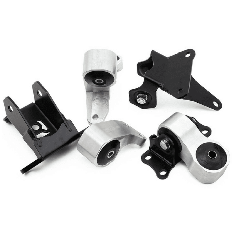 Innovative Mounts - K-Series Replacement Billet Engine Mount Kit (9th Gen 12-15 CIVIC Si) 75A TRACK (BLACK) / Silver INO-B91250-75A