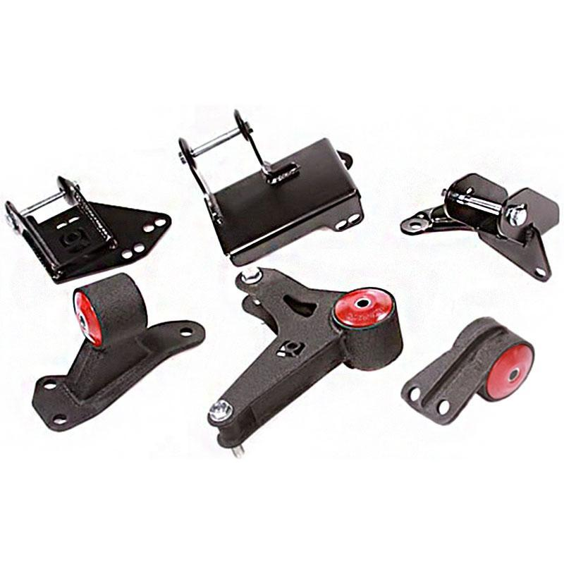 Innovative Mounts Steel K-Series Engine Mount Kit (96-00 Civic with EG/DC Subframe) 75A BLACK STREET BUSHINGS INO-90051-75A