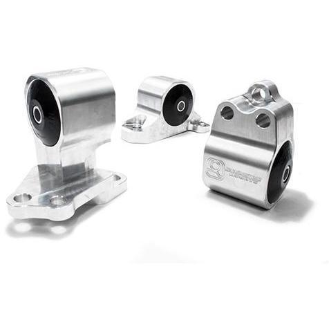 Innovative Mounts - B/D-Series Billet Auto to Manual Conversion Kit (92-95 CIVIC) 75A TRACK (BLACK) / Silver INO-B40152-75A