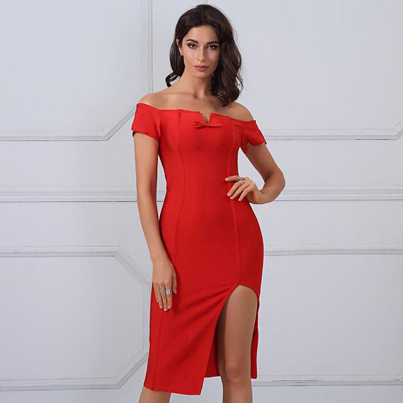 Cherish Red Bandage Dress