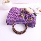 Matilda Purple Straw Bag