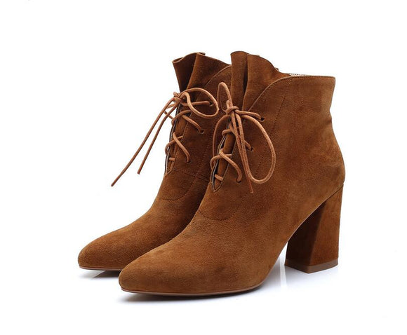 Jolie Ankle Boots (Brown/ Black)