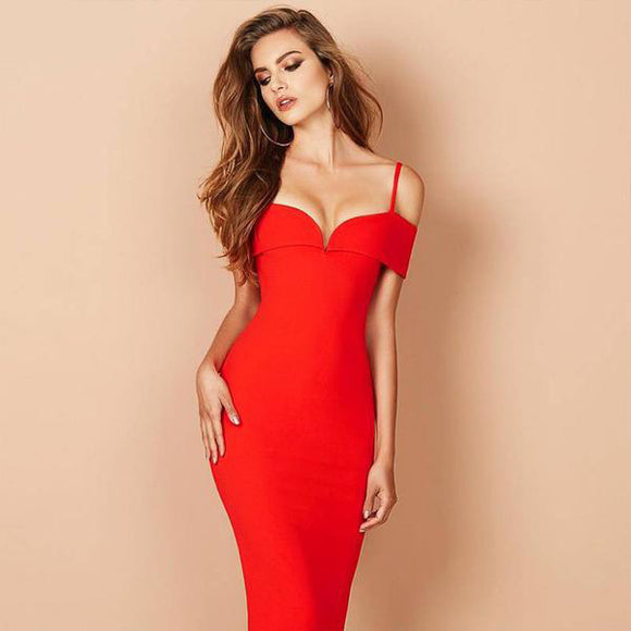 Scarlett Bandage Dress (red/ Black/ Apricot)