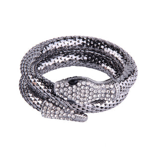 Kaya Luxury Snake Bracelet Bangle (Black/ SIlver/ Gold)