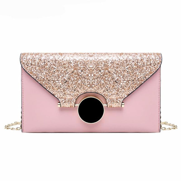 Ada Envelope Clutch Bag (Blue/ Pink/ Black/ Grey)