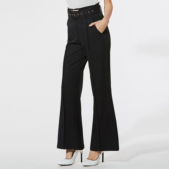 Grace Loose High Waist Wide Leg Black Pants