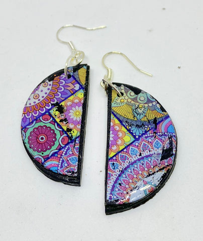 Boho semicircle earrings