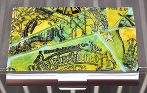 Map Collage Business Card Case