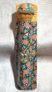 Caned Mezuzah, Jewish decor, contemporary Judaica, scroll case