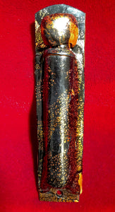Copper & Gold Leafed Mezuzah