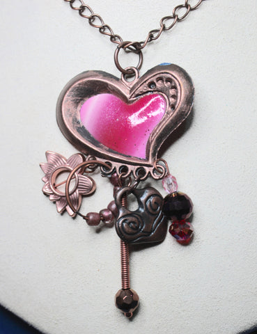 Copper Heart with Dangles