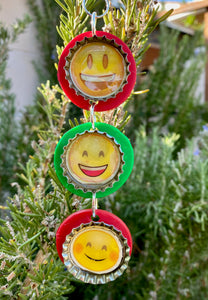 Emoji Chain Ornament 2, Funny Ornament, Christmas decoration, Christmas tree