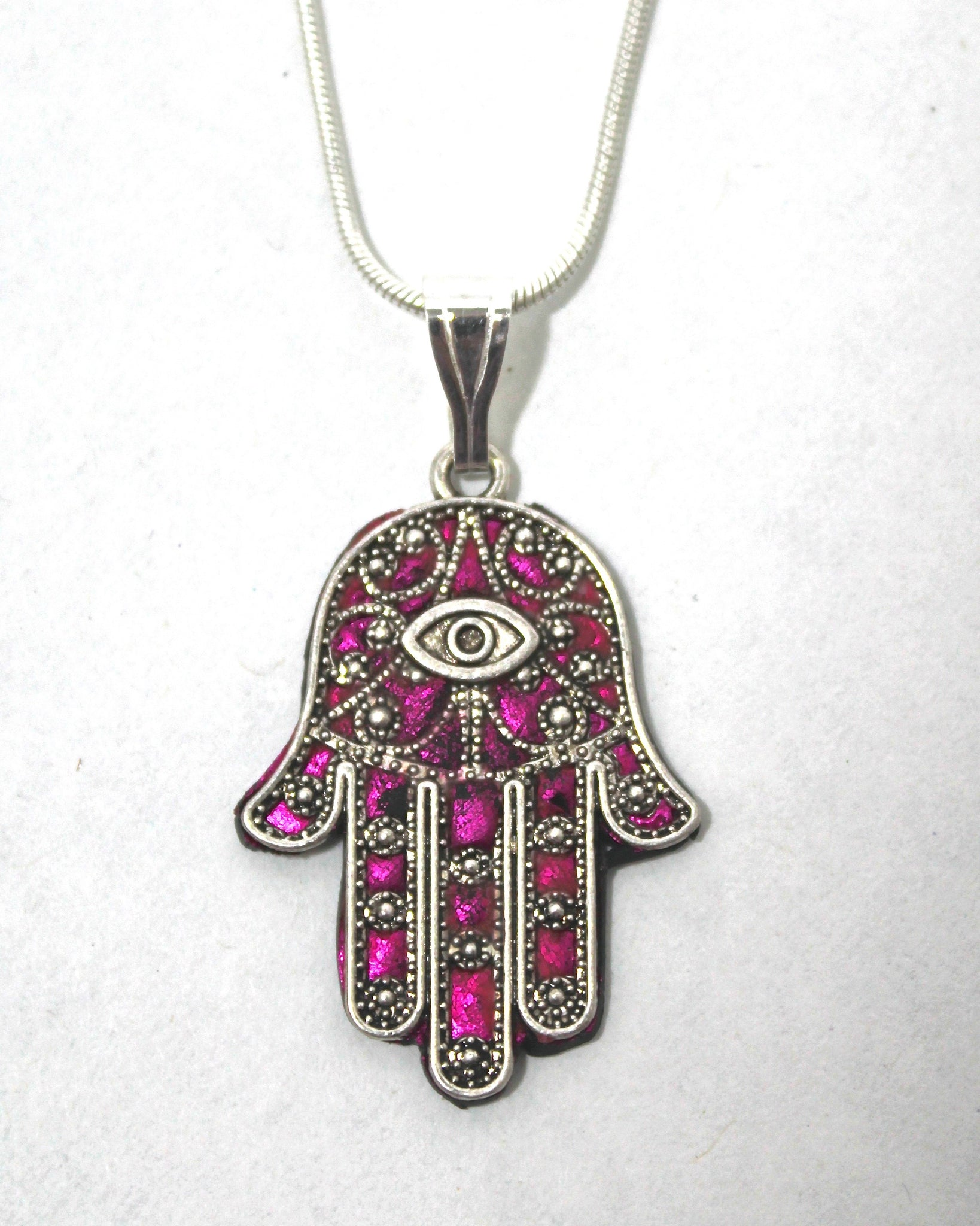 Eye hamsa necklace
