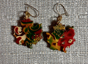 Glittery Leaves Earrings