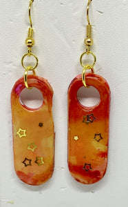 Hot Sunset Stars Earrings
