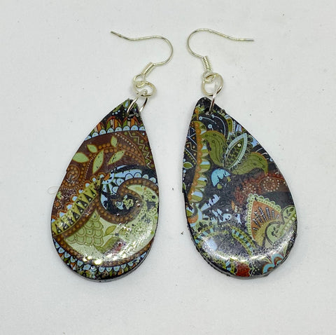 Jungle paisley earrings