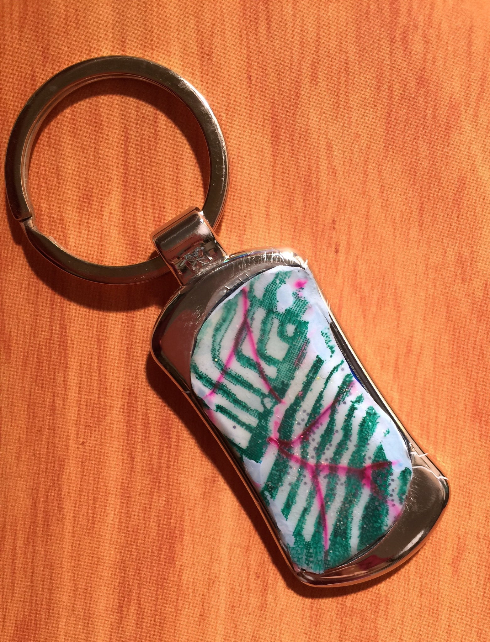 Line Layers Key Ring
