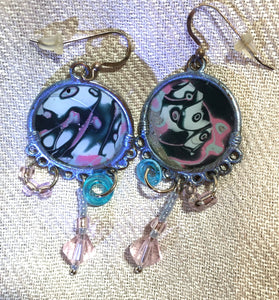 Mokume Dangle Earrings