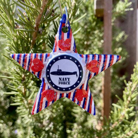 Navy Force Star Ornament